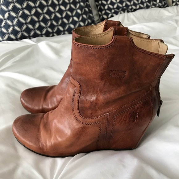 e1814ccef71 Frye Shoes - Frye Carson Wedge Booties